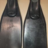 Jedne z pierwszych gumowych płetw przeznaczonych dla nurków - Sprint produkcji Stomil w Grudziądzu