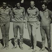 Reprezentacja Polski w Mistrzostwach Świata na Kubie /1967/. Od prawej Zbigniew Zajączkowski, Andrzej Zinserling, Jerzy Macke i Wiesław Roguski